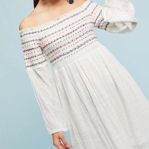 Anthropologie Farm Rio Off The-Shoulder dress